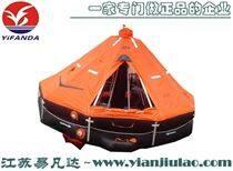 船舶甲板自動釋放救援氣脹式自扶正救生筏