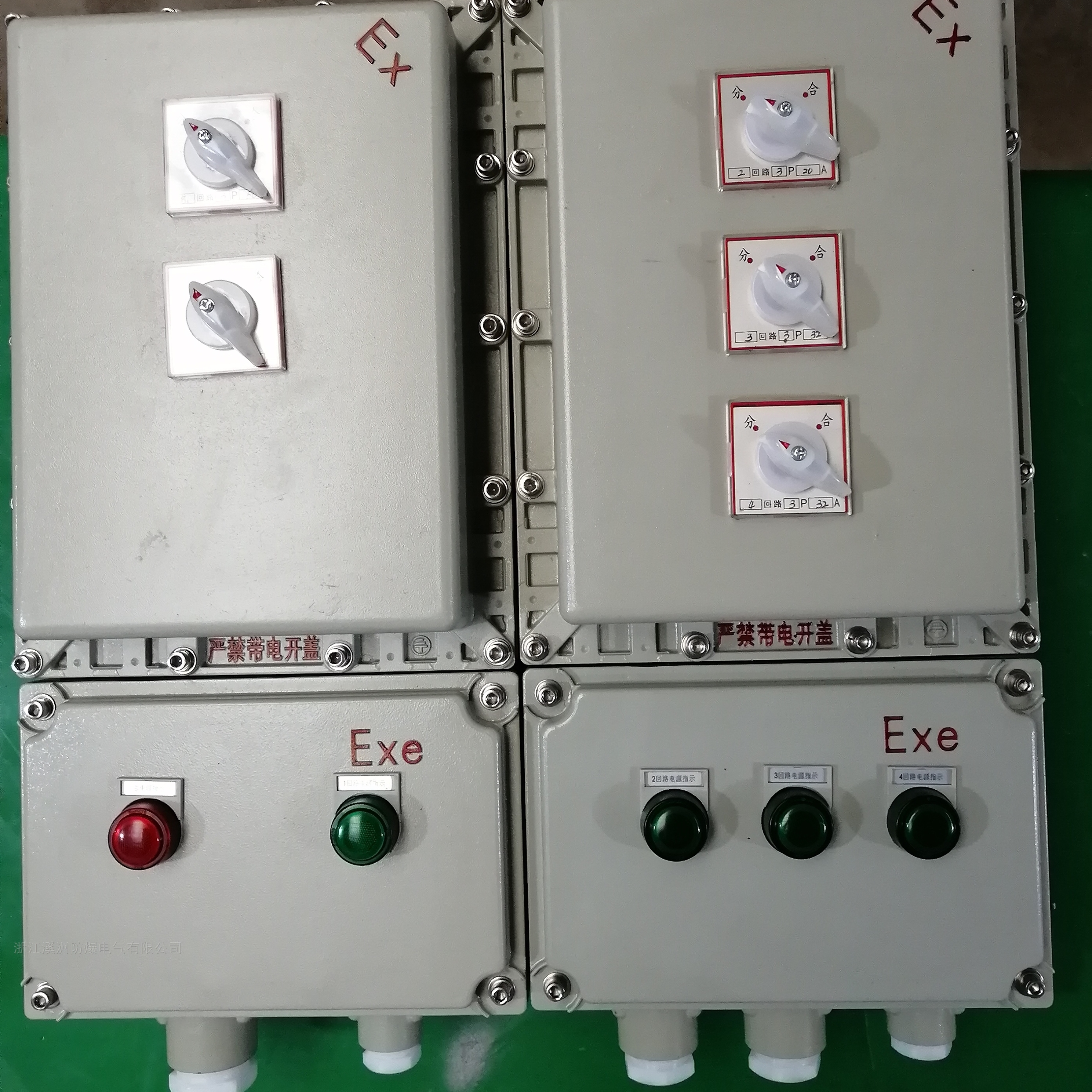 防爆配电箱1总4分挂壁式