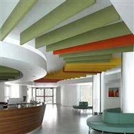 005豪瑞玻纤彩色造型吸音垂片装饰效果