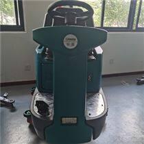 工業車間大型駕駛式洗地車 雙刷電瓶清潔車