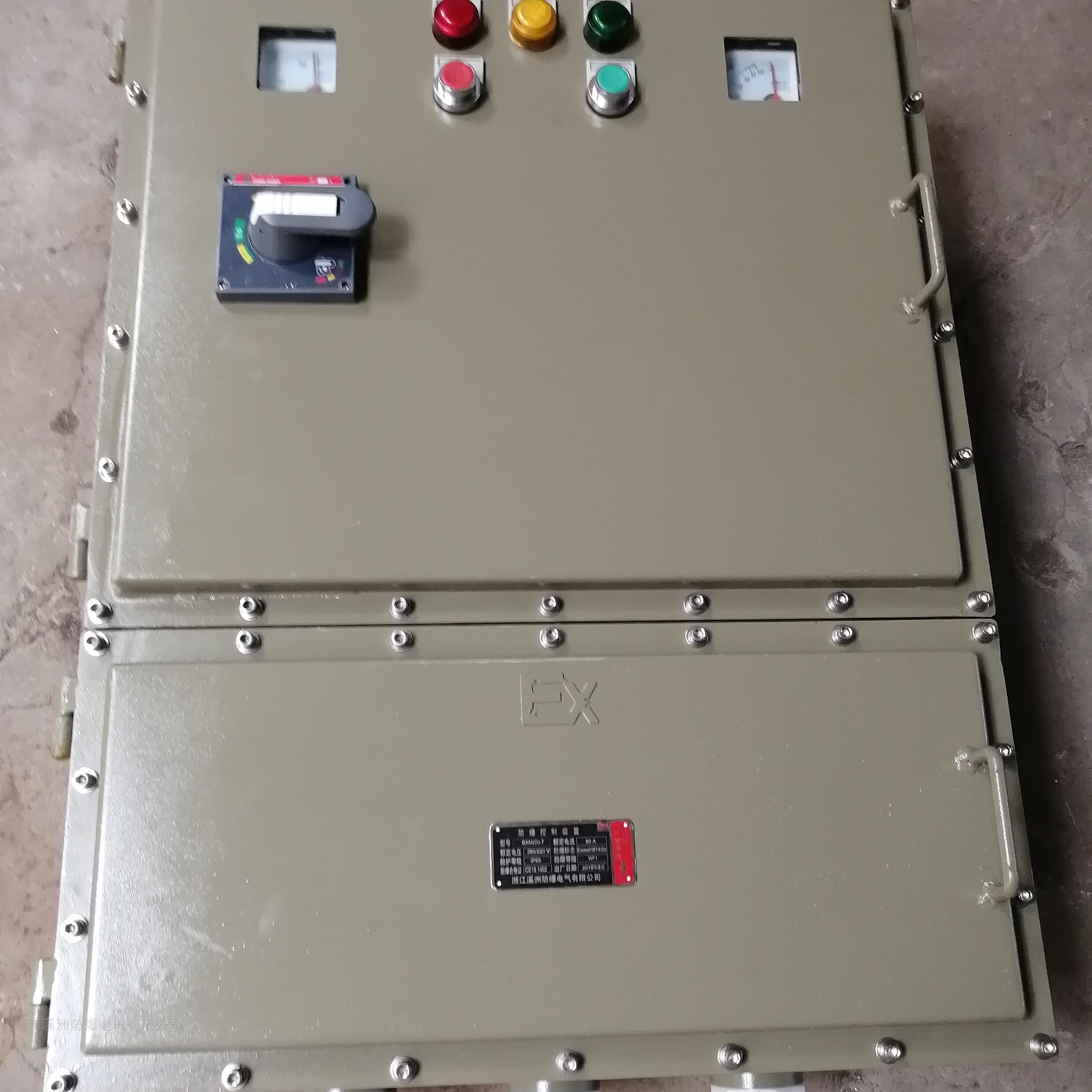 防爆碳钢控制箱带电流表