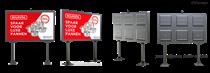 太龍智顯戶外雙立柱式LED廣告機