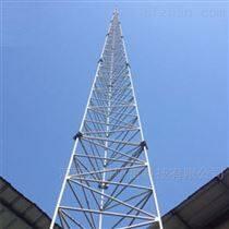 35米热镀锌圆钢三角避雷塔