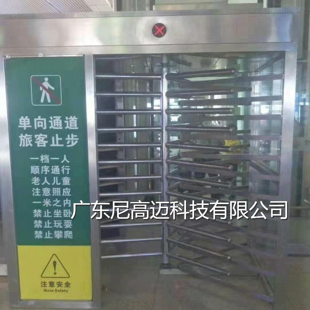郑州高铁站单向通道旅客止步全高旋转闸门