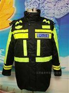 黑黃相間交井棉服 內膽可拆卸 暖和棉服