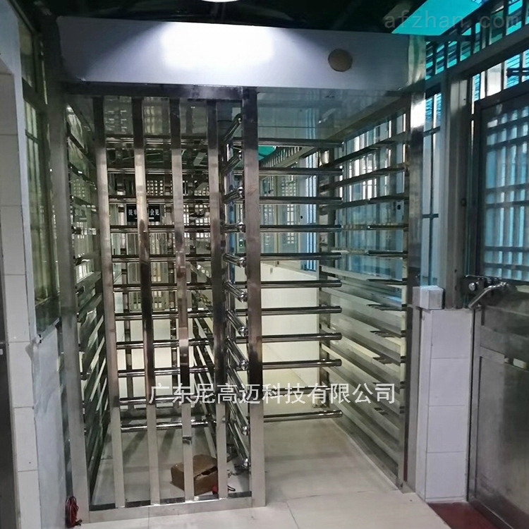 立式旋转栅栏挡闸机 监獄走廊打指纹转闸门