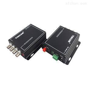 4路视频+1路RS485反向数据多业务光端机