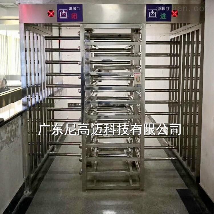 监獄全封闭双通道转闸 304不锈钢旋转辊匝