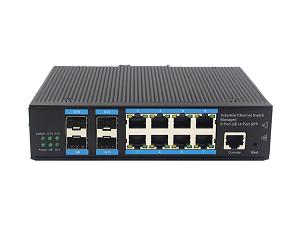 宏波视讯经济管理型4光8电千兆环网交换机上■线
