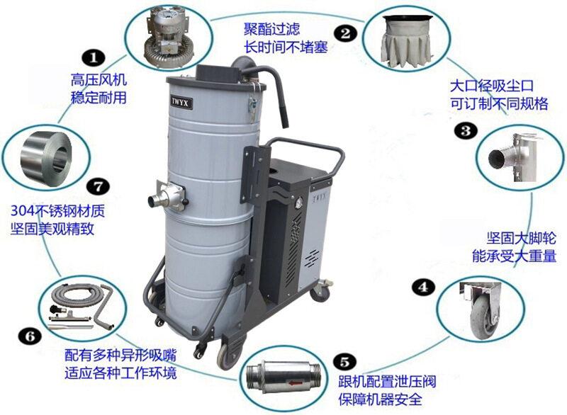 平面磨床专用吸尘器 工业粉末吸尘器车间干湿两用强吸力吸尘器示例图23